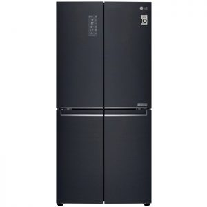 594L Slim French Door Fridge, in Matte Black Finish