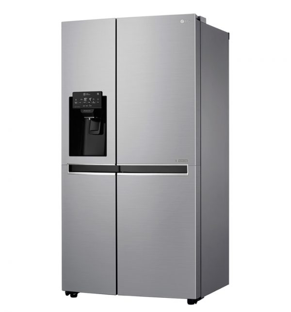 668L Side by Side Fridge with Non Plumbed Ice & Water Dispenser