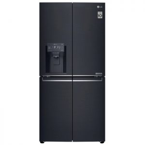 570L Slim French Door Fridge, in Matte Black Finish